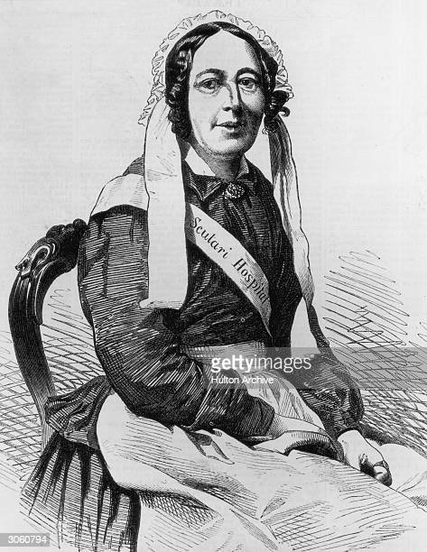 A nurse from the Barrack hospital at Scutari run by Florence Nightingale during the Crimean War December 1855 Engraved from a photograph by Mayall