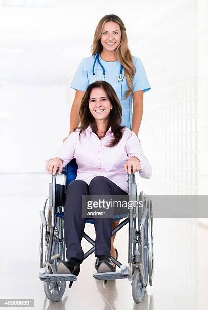 Nurse helping a patient
