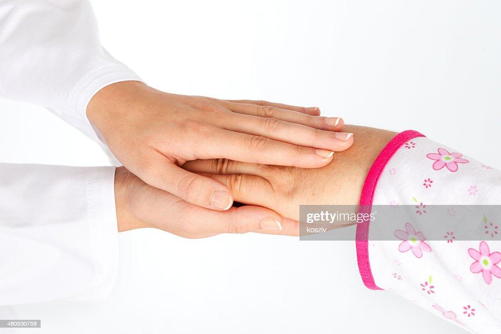 Nurse helping senior : Stock Photo