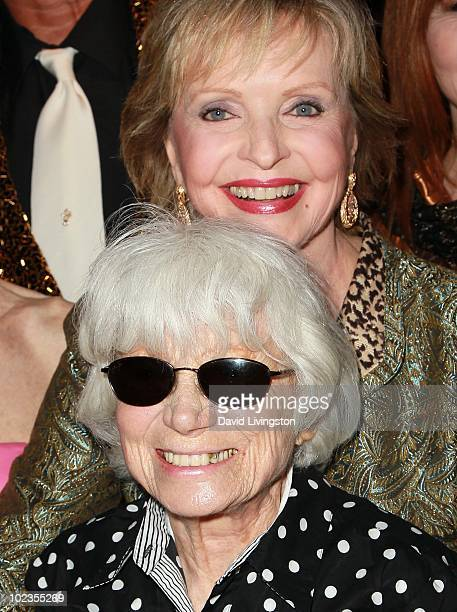 II nurse in Alfred Eisenstaedt iconic photograph Edith Shain and actress Florence Henderson attend the Hollywood Museum's reception for Jeran...