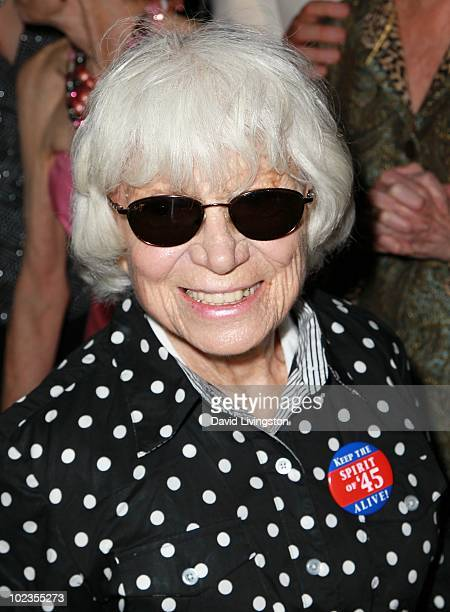 II nurse in Alfred Eisenstaedt iconic photograph Edith Shain attends the Hollywood Museum's reception for Jeran Design's graffiti gown at the...