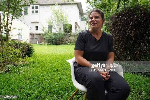 Nurse Jennifer Bridges poses in Houston, Texas, on June 22, 2021. - More than 150 employees at the Houston Methodist hospital in Texas were fired or...