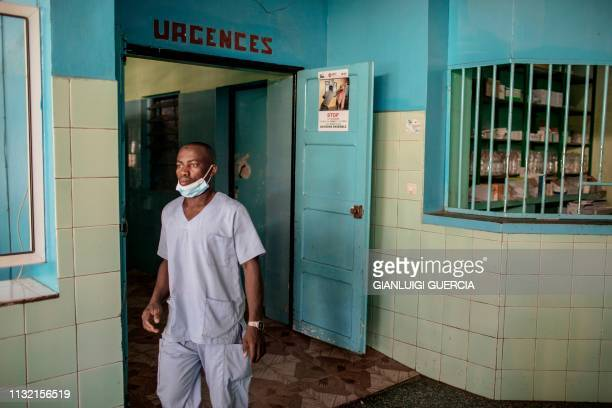 A nurse leaves the emergency room in the Hombo Hospital on March 22 2019 in Mutsamudu capital of the Anjouan Island When it opened in the rainforest...