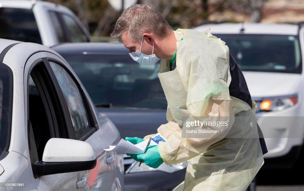 Coronavirus testing in Idaho : ニュース写真