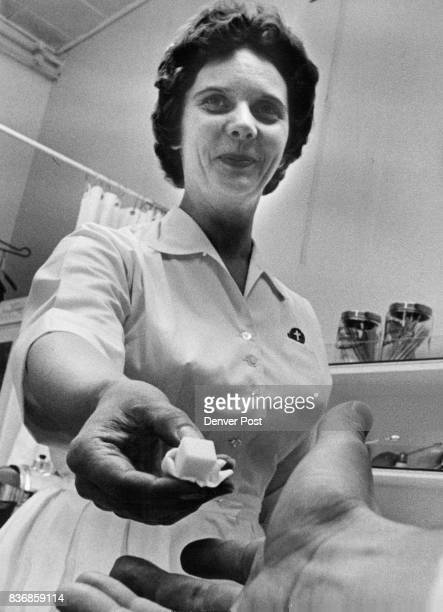 Nurse Nina Koogle Hands out Sugar Cube It Contains two drops of Sabin Oral Polio Vaccine Credit Denver Post