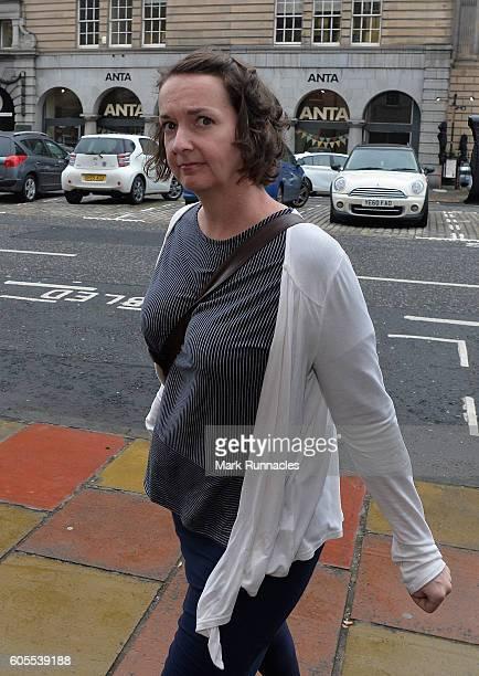 Nurse Pauline Cafferkey arrives at a Nursing and Midwifery Council hearing on September 14 2016 in Edinburgh Scotland It is alleged that Pauline...