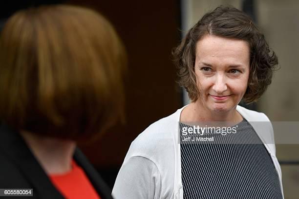 Nurse Pauline Cafferkey stands outside the Nursing and Midwifery Council following a hearing on September 14 2016 in Edinburgh Scotland Scottish...