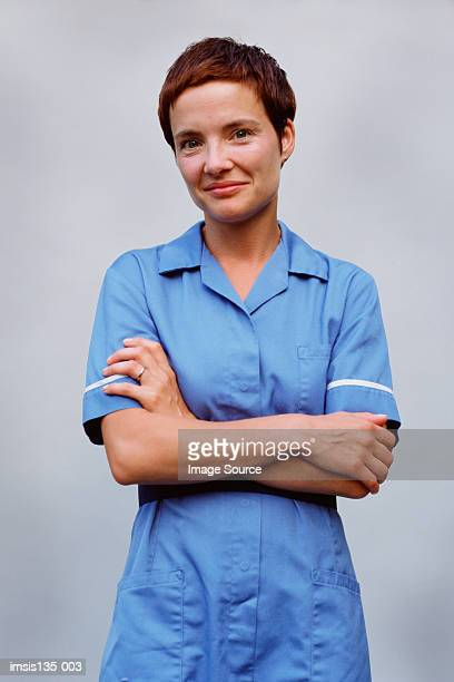 nurse - beschermende werkkleding stockfoto's en -beelden