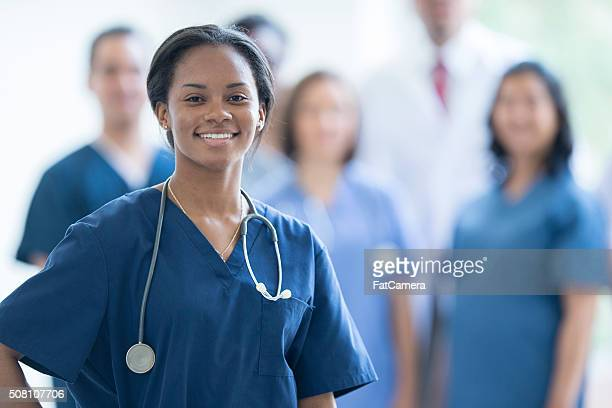 Nurse Smiling at Work