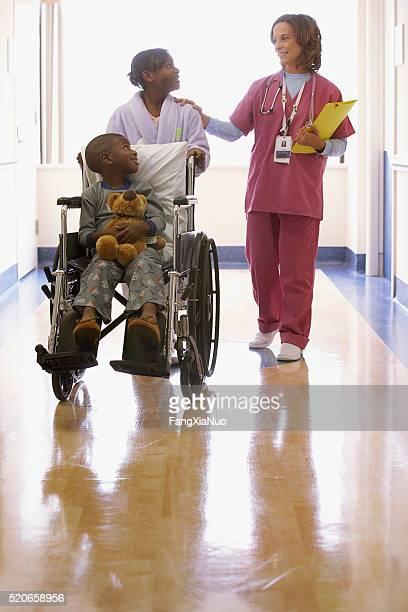 Nurse with children