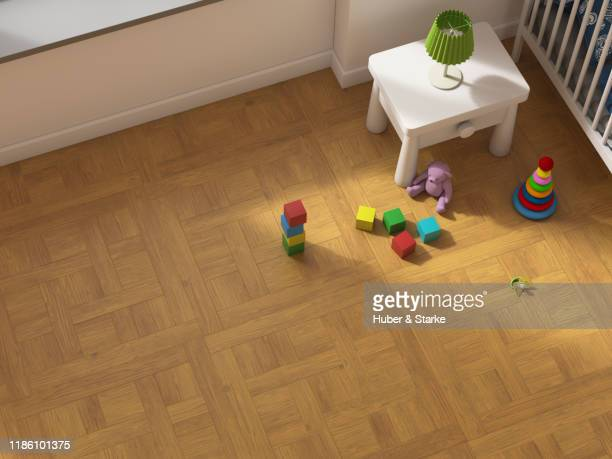nursery from above - child behind bars stock pictures, royalty-free photos & images
