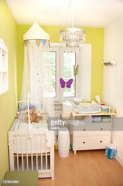 nursery small - children's room for girls - nursery bedroom stock pictures, royalty-free photos & images