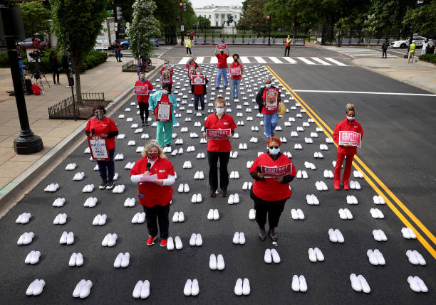 DC: Memorial Held In Washington, DC For Nurses Who Battled COVID-19 Pandemic