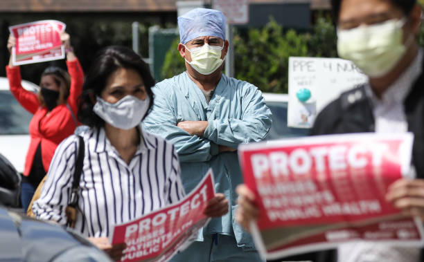 CA: Nurses Protest At UCI Medical Center In CA About Lack Of Personal Protective Gear