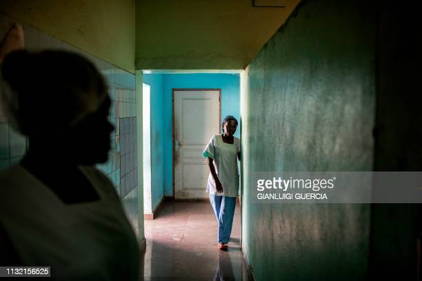 Nurses arrive at the emergency room in the Hombo Hospital on March 22 2019 in Mutsamudu capitol of the Anjouan Island Comoros When it opened in the...