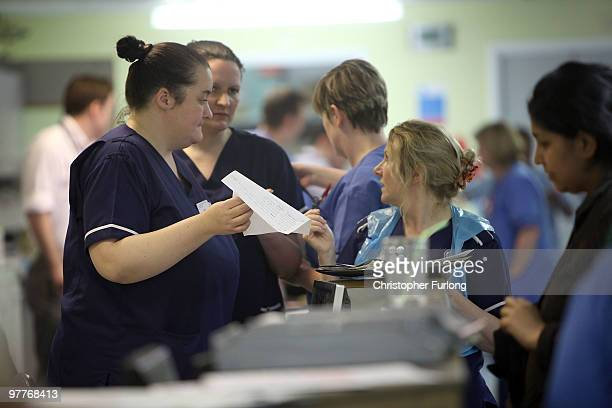 Nurses in the accident and emergency dept of Selly Oak Hospital work during a busy shift on March 16 2010 in Birmingham England As the UK gears up...