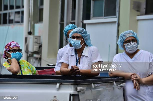 Nurses join doctors of the School Hospital in a protest against their working conditions and demand personal protective equipment to prevent being...