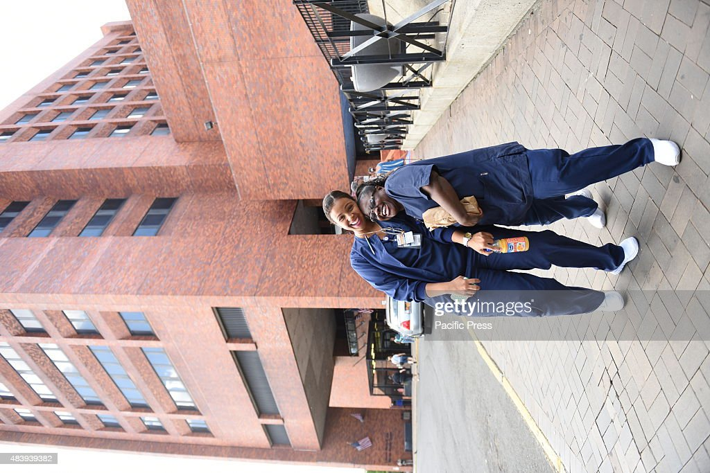 Nurses Outside Lincoln Medical Mental Health Center In The