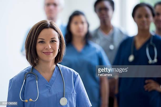 Nurses Standing Together