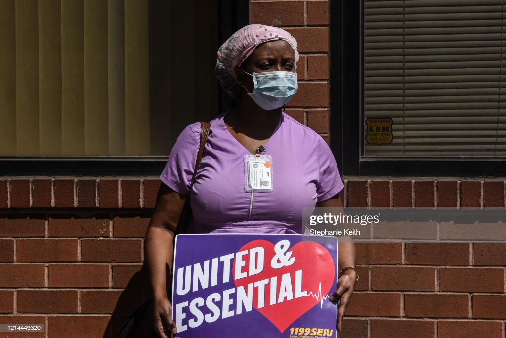 Nursing Home Workers Hold Silent Vigils Across New York State During Pandemic : News Photo