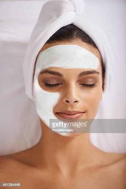 Nurturing her skin to perfection