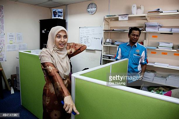 Nurul Izzah Anwar a current Member of Parliament from Malaysian opposition party Parti Keadilan Rakyat works out of a modest office in Lembah Pantai...