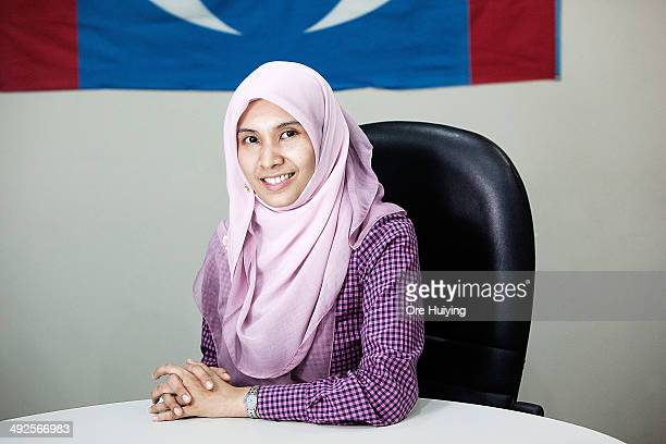 Nurul Izzah Anwar from Malaysian opposition party Parti Keadilan Rakyat and a current Member of Parliament for Lembah Pantai poses for a portrait in...