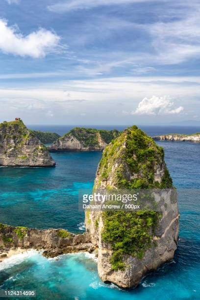 nusa batumategan with clear waters - regency style stock photos and pictures
