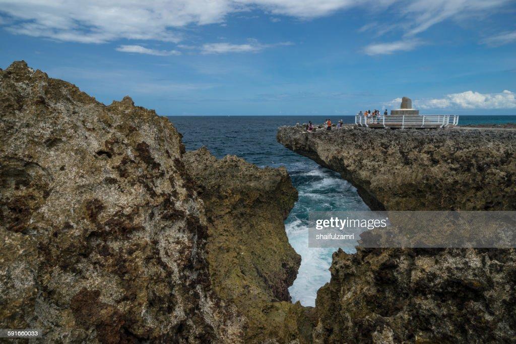 Nusa Dua beach in Bali : Stock Photo
