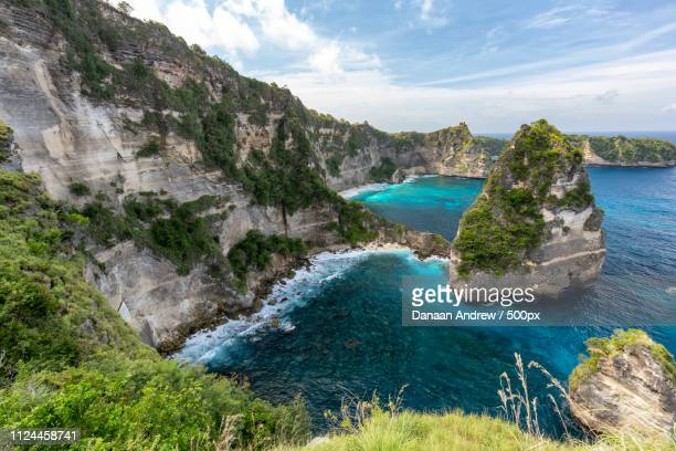 nusa penida seascape - regency style stock photos and pictures