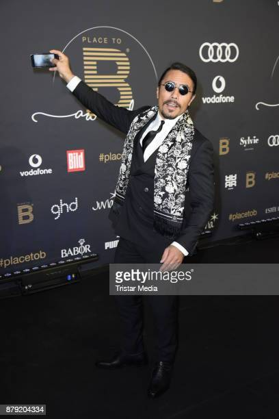 Nusret Goekce attends the Place To B Influencer Award at Axel Springer Haus on November 25 2017 in Berlin Germany