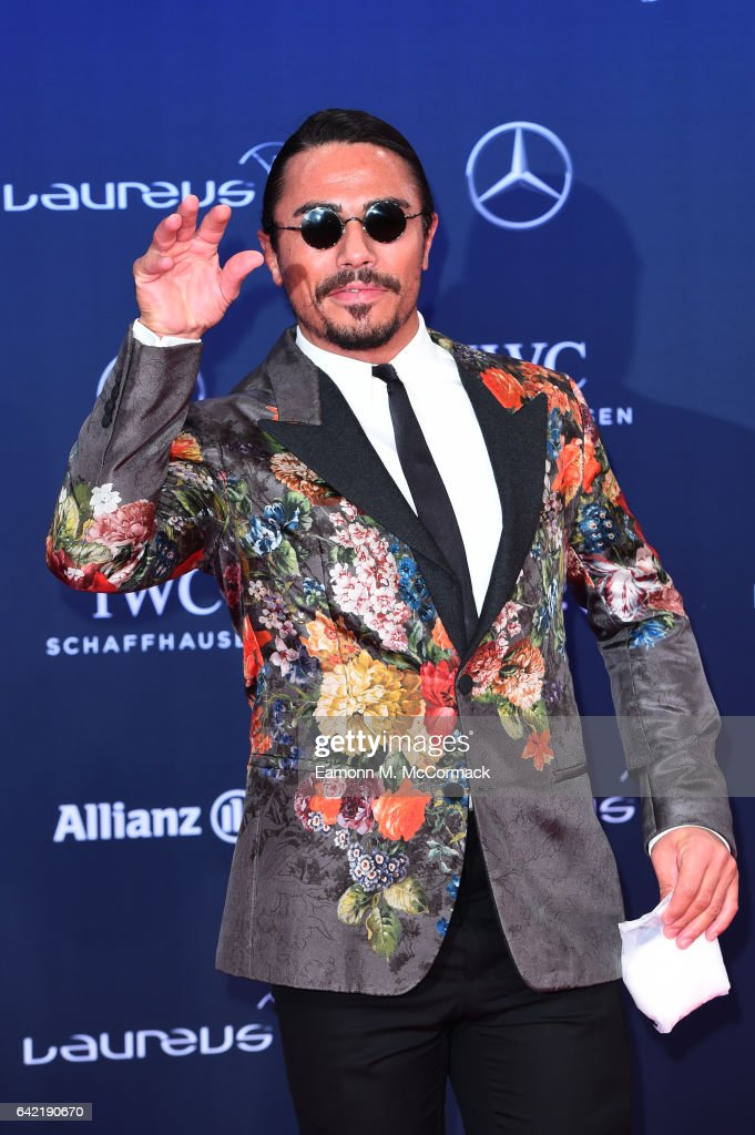Nusret Gokce aka Salt Bae attends the 2017 Laureus World Sports Awards at the Salle des Etoiles,Sporting Monte Carlo on February 14, 2017 in Monaco, Monaco.