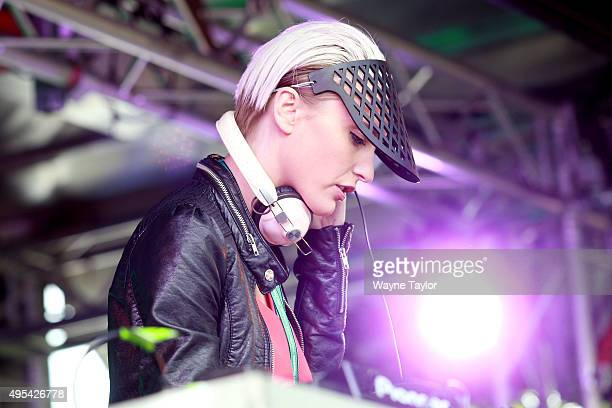 Nussy performs for racegoers on Melbourne Cup Day at Flemington Racecourse on November 3 2015 in Melbourne Australia