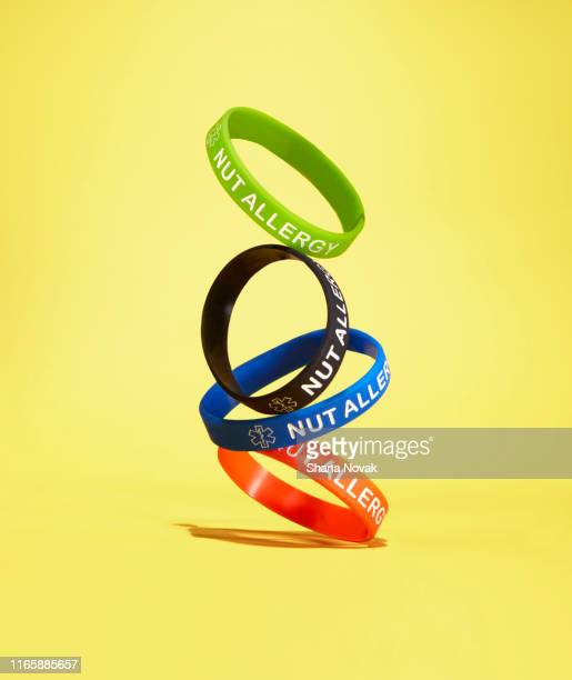 "nut allergy awareness bracelet - ""shana novak"" stock pictures, royalty-free photos & images"