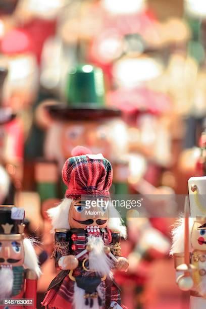 Nutcracker at christmas market in Germany. Nuremberg, Bavaria, Germany