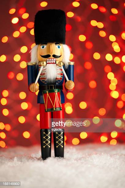 Nutcracker in Snow with Lights