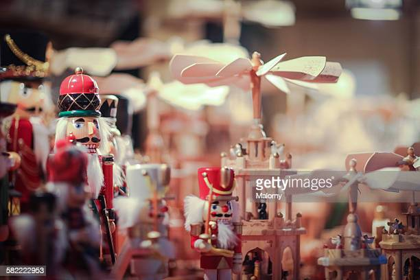Nutcrackers for sale at christmas market
