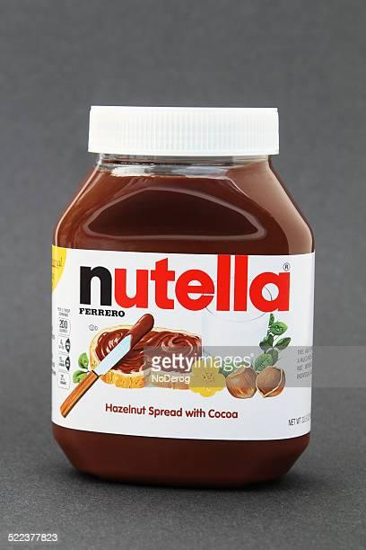 nutella nocciola e cacao diffusione - nutella foto e immagini stock