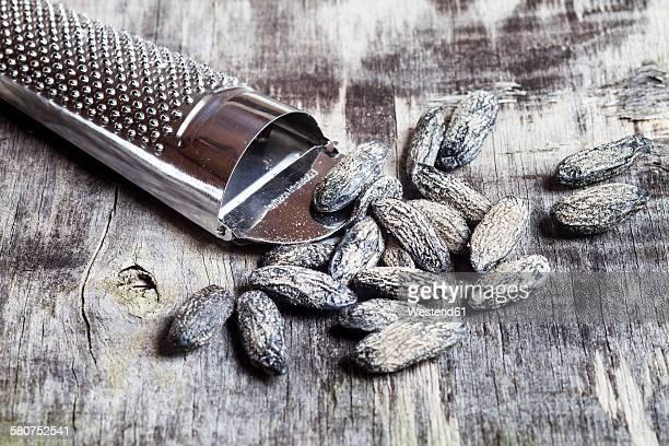 Nutmeg grater and tonka beans