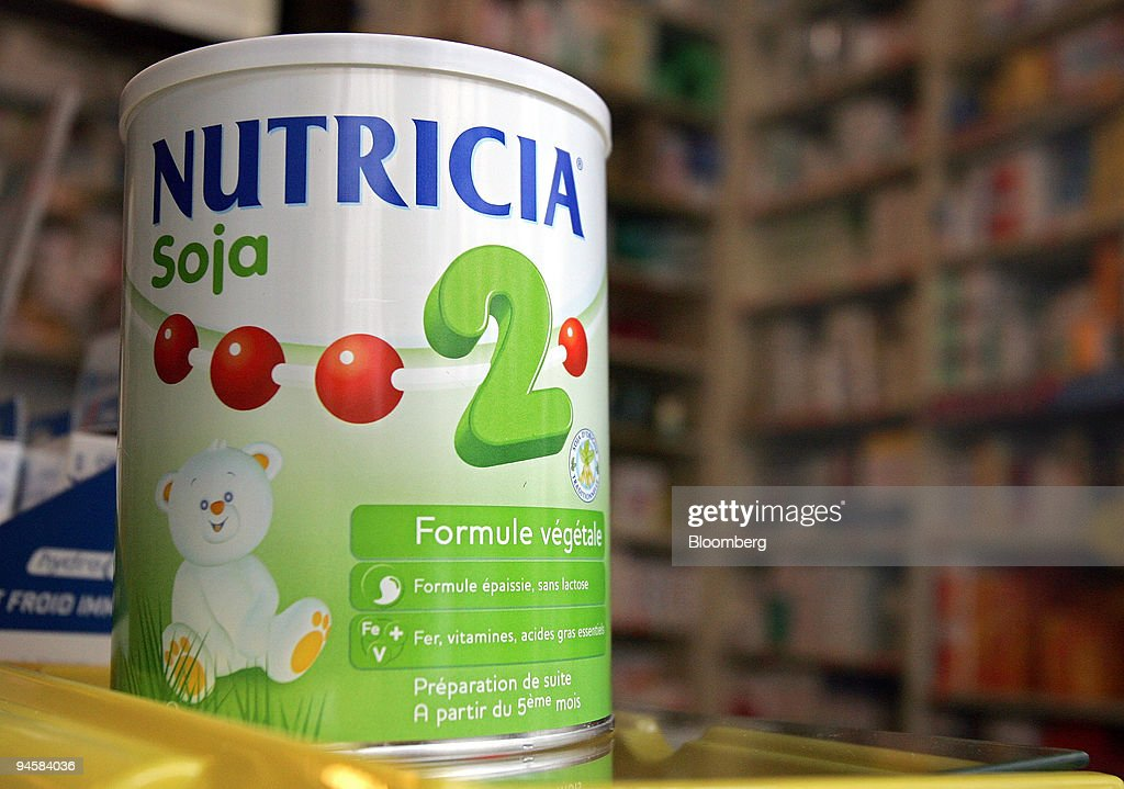 Nutricia brand baby milk powder, produced by Numico, sits on
