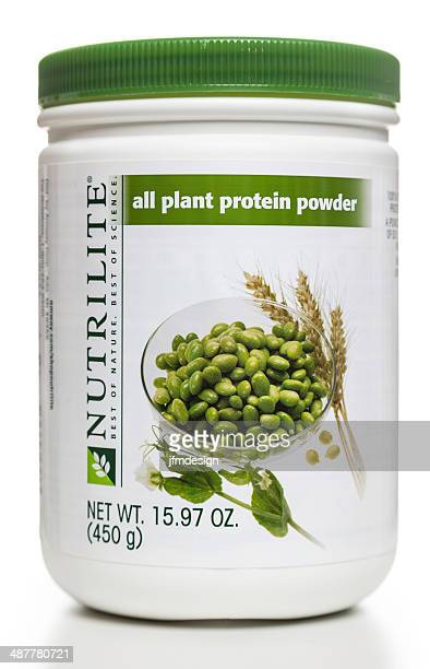 Nutrilite all plant protein powder jar