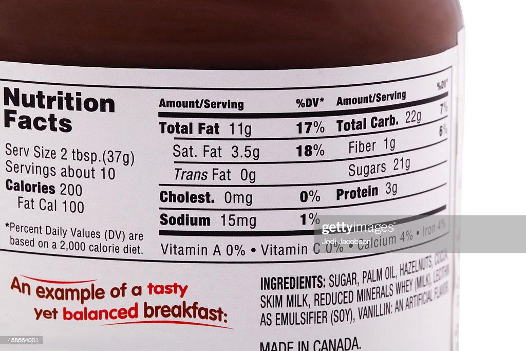 Nutrition News: Nutrition Fact Hazelnut