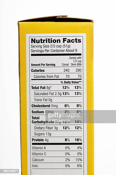 nutrition facts - ingredient stock pictures, royalty-free photos & images