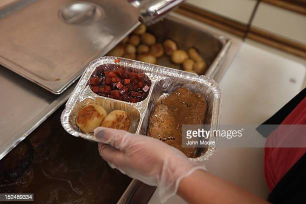 A nutrition specialist prepares a Meals on Wheels delivery from the Sullivan County Office for the Aging on September 21 2012 in Eldred New York The...