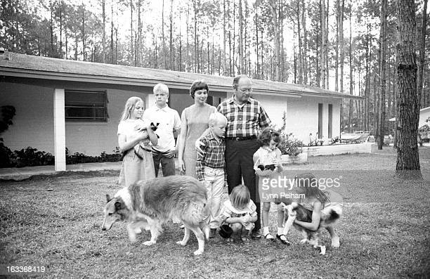 Nutritional Supplements: Portrait of University of Florida College of Medicine Dr. Robert Cade, creator of Gatorade, with his family outside his...
