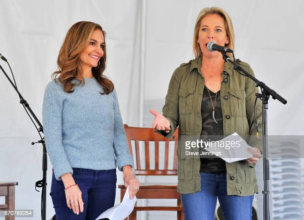 Nutritionist Joy Bauer and Live In The Vineyard Founder Bobbii HachJacobs attend Day 4 of Live In The Vineyard 2017 at Peju Province Winery on...