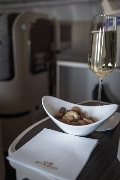 Nuts & Champagne, Etihad Business Class
