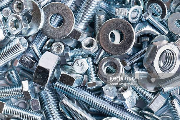 nuts and bolts - nut fastener stock photos and pictures