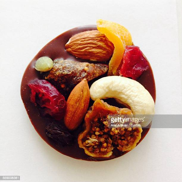 Nuts And Dried Fruits In Chocolate