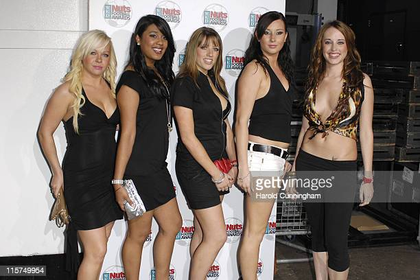 Nuts Models during Nuts Magazine WKD Football Awards Arrivals at Ministry of Sound in London Great Britain